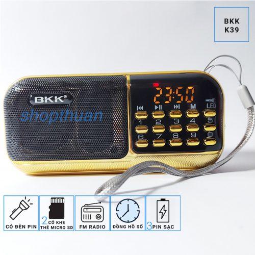 Loa BKK K39 - 3 Pin - Nghe Thẻ Nhớ - FM