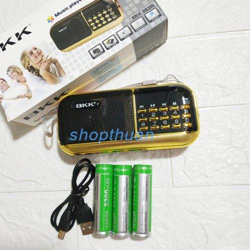 Loa BKK B839S 3 Pin - Có Đèn Pin Nghe Thẻ Nhớ FM