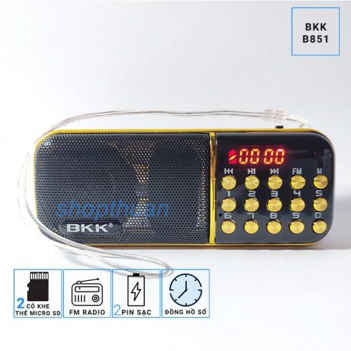 Loa BKK B851 - 2 Pin - Nghe Thẻ Nhớ - FM