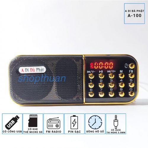Loa A Di Đà Phật A-100 1 Pin – Thẻ Nhớ – USB – FM