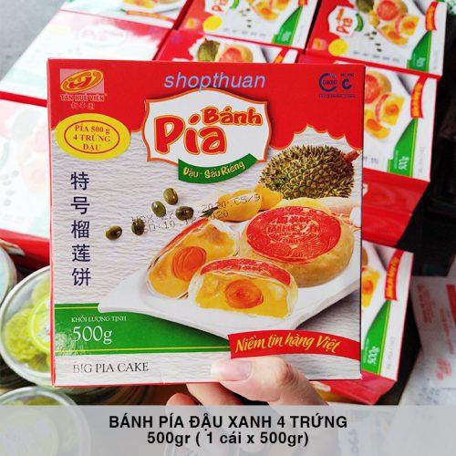 Bánh Pía Đậu Xanh Sầu Riêng 4 Trứng 500gr ( 1 cái x 500 gr )