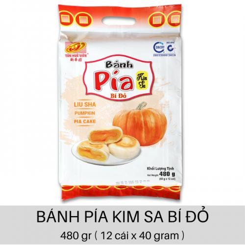 Bánh Pía Kim Sa Bí Đỏ 480gr ( 12 cái x 40 gr )