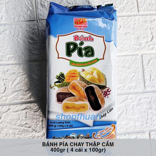 Bánh Pía Chay Thập Cẩm 400gr ( 100gr x 4 Cái ) - Tân Huê Viên