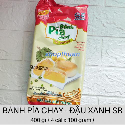 Bánh Pía Chay Đậu Xanh Sầu Riêng 400gr ( 4 cái x 100 gr )