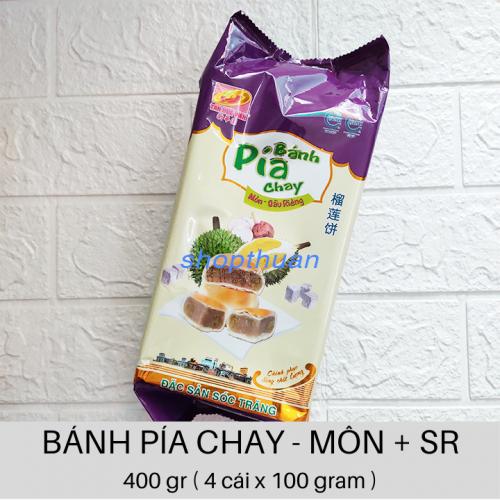 Bánh Pía Chay Khoai Môn Sầu Riêng 400gr ( 4 cái x 100 gr )