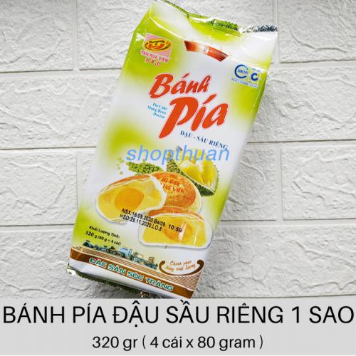 Bánh Pía Đậu Sầu Riêng 320 gr 1 Sao ( 4 cái x 80 gr )