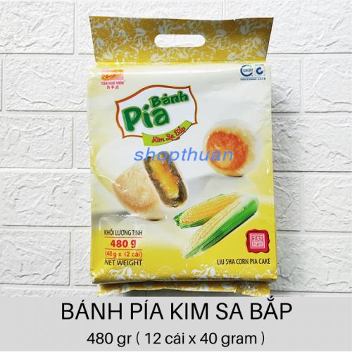 Bánh Pía Kim Sa Bắp Đậu Xanh 480gr ( 12 cái x 40 gr )