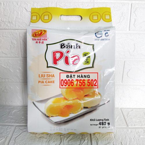 Bánh pía kim sa đậu xanh 480gr ( 40gr x 12 Cái ) - Tân Huê Viên