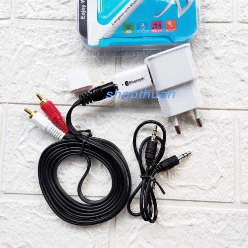 USB Bluetooth PT810 + Dây AV + Củ Sạc - Biến Loa Thường Thành Loa Bluetooth