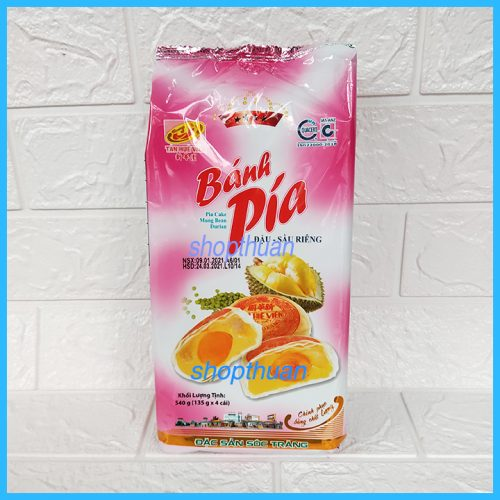 Bánh Pía 4 Sao Đậu Sầu Riêng 540gr ( 4 cái )