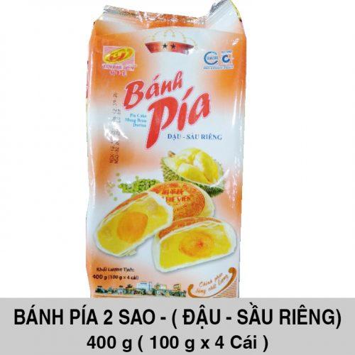 Bánh Pía 2 Sao Đậu Sầu Riêng 400gr ( 4 cái x 100 gr )