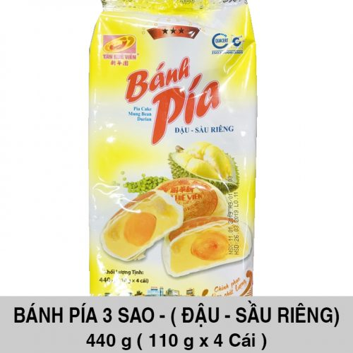Bánh Pía 3 Sao Đậu Sầu Riêng 440gr ( 4 cái x 110 gr )