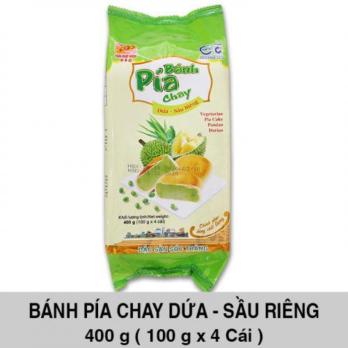 Bánh Pía Chay Lá Dứa Đậu Xanh Sầu Riêng 400gr ( 4 cái x 100 gr )