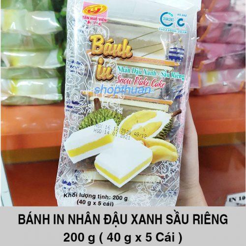 Bánh In Nhân Đậu Xanh Sầu Riêng 200 Gram ( 5 Miếng )