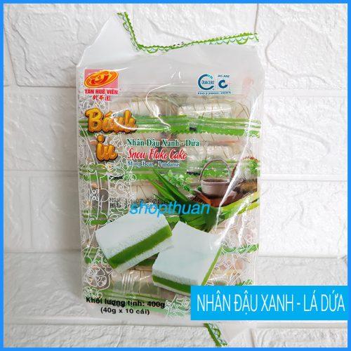 Bánh in nhân đậu xanh - lá dứa 400g ( 10 cái )