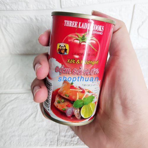Cá xốt cà chua 3 Cô Gái nắp giật 155 gr