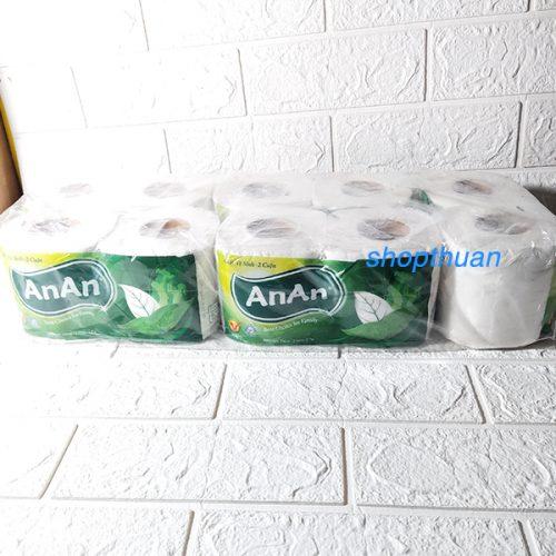 10 cuộn giấy vệ sinh giấy cuộn An An - giấy 2 lớp