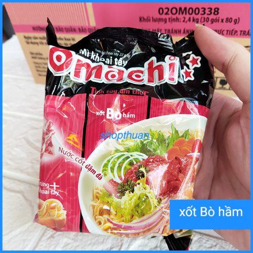 Mì khoai tây Omachi xốt bò hầm gói 80g